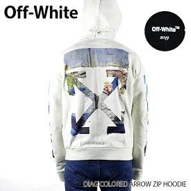 【送料無料】【2019 SS】【新作】『Off-White-オフホワイト-』DIAG COLORED ARROW ZIP HOODIE-ダイアグ カラード アロウ ジップ フーディ・パーカー-〔OMBE001R19003012〕