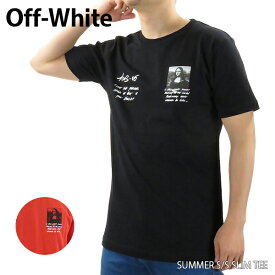 【送料無料】【2019 SS】【新作】『Off-White-オフホワイト-』MONNALISA S/S SLIM TEE〔OMAA027S19185005〕-モナリザプリント クルーネックTシャツ ブラック レッド-