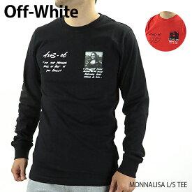 【送料無料】【2019 SS】【新作】『Off-White-オフホワイト-』MONNALISA L/S TEE〔OMAB001S19185005〕-モナリザプリント クルーネック ロングスリーブTシャツ ブラック レッド-