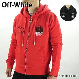 【送料無料】【2019 SS】【新作】『Off-White-オフホワイト-』MONNALISA ZIPPED HOODIE〔OMBE001S19003005〕-モナリザ プリント ジップアップフーディ ジャケット-