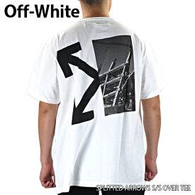 【送料無料】【2019 AW】【並行輸入品】『Off-White-オフホワイト-』SPLITTED ARROWS S/S OVER TEE メンズ Tシャツ クルーネック 半袖〔OMAA038E19185010〕