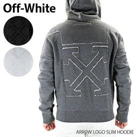 【予約】【送料無料】【2020 SS】【並行輸入品】『Off-White-オフホワイト-』ARROW LOGO SLIM HOODIE アロー ロゴ スリムフーディー 長袖 [OMBB034R20D25032]《ご注文後3日前後発送予定》