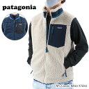 【お一人様1点まで】Patagonia パタゴニア Classic Retro-X Vest メンズ クラシック レトロX ベスト 袖なし ボア 刺繍 23048 NAT