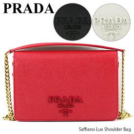 【送料無料】【2019 SS】【並行輸入品】『PRADA-プラダ-』Saffiano Lux Shoulder Bag レディース ショルダーバッグ チェーンバッグ〔1BP012 NZV〕
