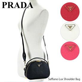 PRADA プラダ Saffiano Lux Shoulder Bag レディース ショルダーバッグ ハンドバッグ ミニ〔1BH123 NZV〕