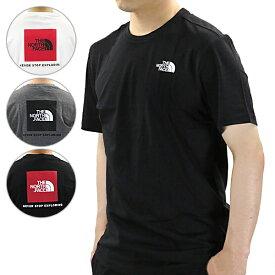 【ネコポス配送:1枚まで】THE NORTH FACE ノースフェイス M S/S REDBOX TEE ボックスロゴ ビッグロゴ 半袖 Tシャツ クルーネック メンズ[NF0A2TX2]