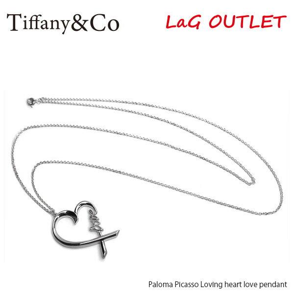 【送料無料】『Tiffany&Co-ティファニー-』Paloma Picasso Loving heart love pendant-パロマピカソ ラヴィング ハート ラブペンダント-〔37721271〕