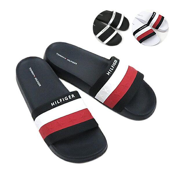 【2019SS】【並行輸入品】『TOMMY HILFIGER-トミーヒルフィガー-』DULCE ドルセ ユニセックス コンフォートサンダル スライド スリッパ シャワーサンダル