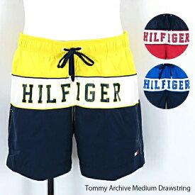 《返品交換不可》【2019 SS】【並行輸入品】『TOMMY HILFIGER-トミーヒルフィガー-』Tommy Archive Medium Drawstring メンズ 水着 ビーチウェア 海パン〔UM0UM01116〕