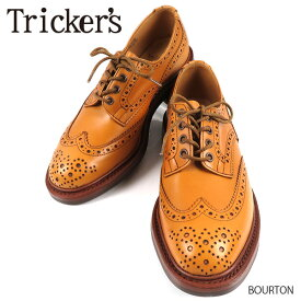 TRICKER'S トリッカーズ BOURTON バートン ウイングチップ ブローグシューズ 紳士靴 ビジネスシューズ メンズ 5633 Acorn Antique