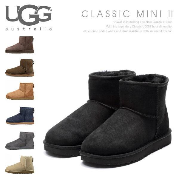 【送料無料】【2017 AW】『UGG-アグ-』Classic Mini II[1016222][ムートンブーツ クラシックミニ2 レディース ブーツ 撥水・防汚性(アッパーのみ) 並行輸入正規品]