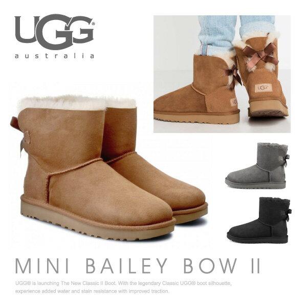 【送料無料】【2017 AW】『UGG-アグ-』Mini Bailey Bow II[1016501][ ミニ ベイリーボウII ムートン ブーツ バック リボン ショートブーツ レディース ブーツ 並行輸入正規品]