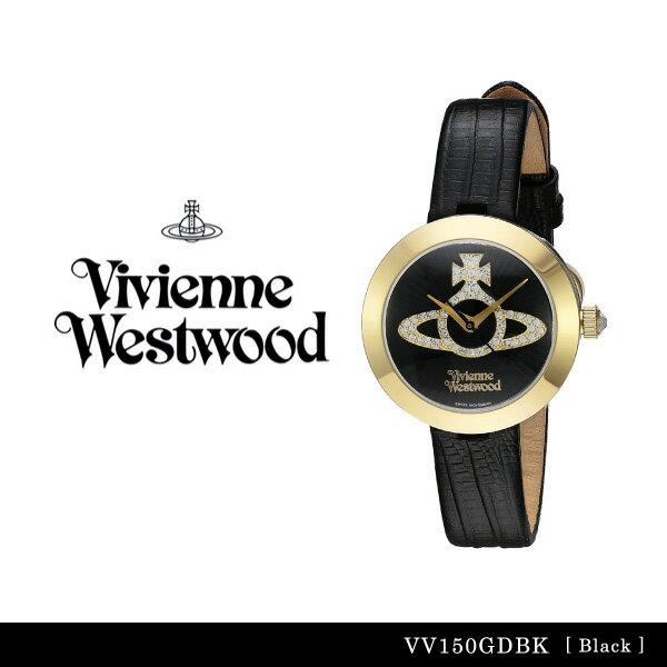 【送料無料】【並行輸入品】『Vivienne Westwood-ヴィヴィアンウエストウッド-』Queensgate 腕時計 [VV150GDBK][レディース クイーンズゲイト ブラック 腕時計 ウォッチ ]