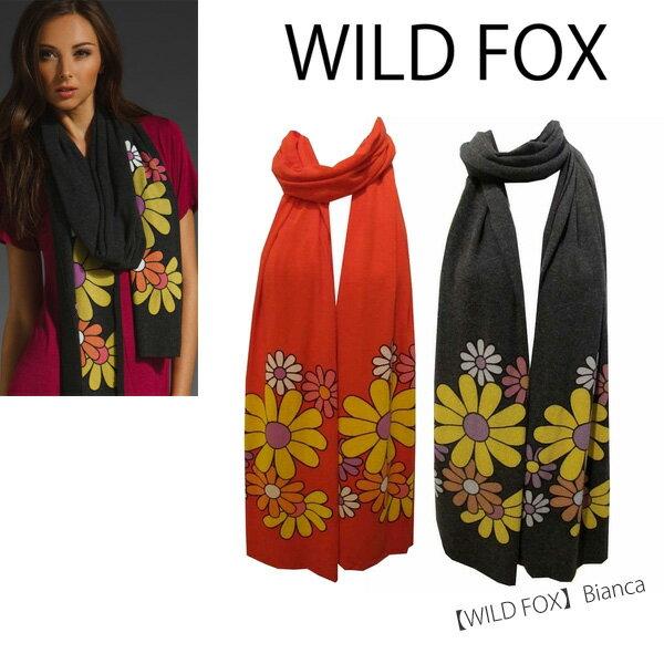 【メール便可】【WILD FOX-ワイルドフォックス】 Scarves [Bianca] [WVV006W27] [フラワー柄・ストール・スカーフ・マフラー]■