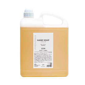 """SOA HAND SOAPソア ハンドソープ 4L お得な大容量【手指洗浄液】レモングラスの香り高い洗浄力で""""ウィルス対策""""にしっかり対応"""