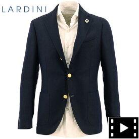 【新春セール】ラルディーニ LARDINI メンズ ウールリネン ホップサック 段返り3B シングルジャケット JR0526AQR/EIRP54596/5(ダークネイビー)【返品交換不可】special priceAM