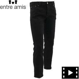 2020-21年秋冬新作 国内正規品 ENTRE AMIS アントレアミ メンズ ストレッチ テーパード ブラックデニム A21-8177-344L685 2021(ブラック)