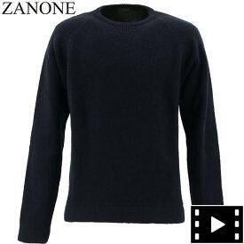 【楽天スーパーセール】ザノーネ ZANONE メンズ ラグランスリーブ クルーネックセーター GIRO RAG 812463 ZM253 Z1375 (ネイビー)【返品交換不可】special priceAM