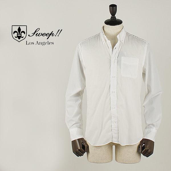 国内正規品 即日発送 SWEEP!! スウィープ!! メンズ コットン ポプリン ボタンダウンシャツ Poplin Solid (ホワイト)