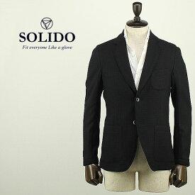 【クリアランスセール50%OFF】SOLIDO ソリード メンズ ウール 2B シングルジャケット ALEPPO MSL17A447 (チャコールグレー)【返品交換不可】special priceBM
