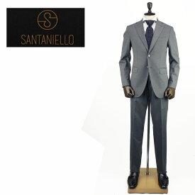 【クリアランスセール50%OFF】SANTANIELLO サンタニエッロ メンズ ウール ストレッチ 2B シングルスーツ V529/E1511/11/SAM 011 (ライトグレー)【返品交換不可】special priceBM