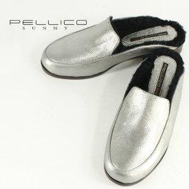 国内正規品 即日発送 PELLICO SUNNY ペリーコサニー ローファースリッパー PJ17-2500 AZAHAR VULCANO ROCA 3cm(シルバー)