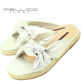 PELLICO SUNNY ペリーコ サニー ジュートソール ゴートレザー サンダル DHALIA PJ19-0351 ECLAT PEARL(シルバー)