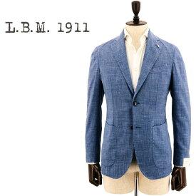 【新春セール 半額以下】エルビーエム1911 L.B.M.1911 メンズ サマーウール リネン 2B シングルジャケット LBM JACK AL29755822 002(ブルー)【返品交換不可】special priceBM