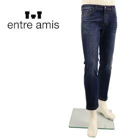 【楽天スーパーセール】アントレアミ ENTRE AMIS メンズ ストレッチ ウォッシュド テーパードデニム NOS-8177-206L02 0405(ブルー)【返品交換不可】special priceAM