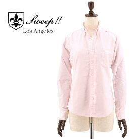 SWEEP!! LosAngeles スウィープ ロサンゼルス レディース コットン オックスフォード ボタンダウンシャツ OXFORD B.D-W PINK(ピンク)
