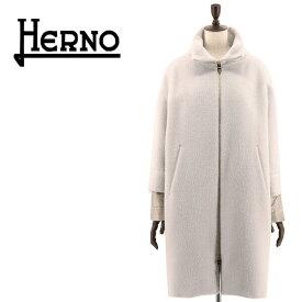 2019-20年秋冬新作 国内正規品 HERNO ヘルノ レディース アルパカ ドロップショルダー オーバーサイズコート GC0244D/12017 9410(ライトグレー)