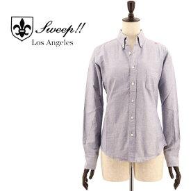 SWEEP!! LosAngeles スウィープ ロサンゼルス レディース コットン オックスフォード ボタンダウンシャツ OXFORD B.D-W NAVY(ネイビー)