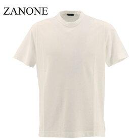 【楽天スーパーセール】ザノーネ ZANONE メンズ アイスコットン クルーネック 半袖Tシャツ T-SHIRT MC ROUND NECK 811821 Z0380 Z0001(ホワイト)【返品交換不可】special priceAM