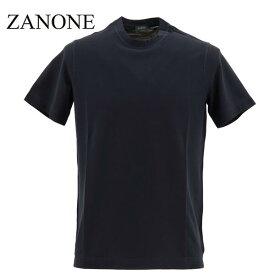 【楽天スーパーセール】ザノーネ ZANONE メンズ アイスコットン クルーネック 半袖Tシャツ T-SHIRT MC ROUND NECK 811821 Z0380 Z0542(ネイビー)【返品交換不可】special priceAM