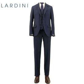 ラルディーニ LARDINI メンズ ウール ソラーロ シャドーストライプ 3ピース 段返り3B シングルスーツ TESSUTO ESCLUSIVO JR0890AQEIC54401/8 (ネイビー)