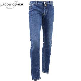 ヤコブコーエン JACOB COHEN メンズ ストレッチ 5ポケット タイトフィット ストレートデニム J613 COMF 1190-W2 10126 76(ブルー)