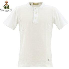 ギローバー GUY ROVER  メンズ コットン 鹿の子 ヘンリーネック Tシャツ 2850TC441 501500 (ホワイト)