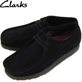 クラークス オリジナルズ CLARKS ORIGINALS メンズ スエード ワラビー WALLABEE 26133279 BLACK SUEDE(ブラック)