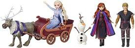 アナと雪の女王 人形セット(エルザ・アナ・クリストフ・オラフ・そり)ディズニー アナと雪の女王2 スヴェンファッション 誕生日 クリスマス