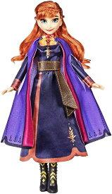 ディズニープリンセス☆うたう♪光る☆アナ(アナと雪の女王2)「the next right thing」を歌う 人形 フィギュア おしゃべり 誕生日 クリスマス Disney Frozen Singing Anna Fashion Doll with Music Wearing A Purple Dress Inspired(Disney Frozen 2)誕生日 クリスマス