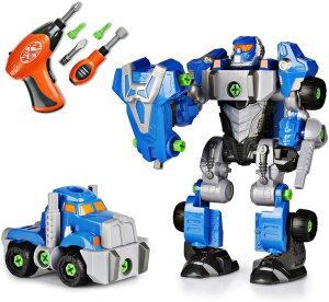 Happkid整備士キット(ロボット&トラック) 3-in-1 電動工具付き 3個セット 42個子ども向け クリスマス 誕生日 おもちゃ科学、技術、工学、数学 教育 エンジニアセット ハプキッド