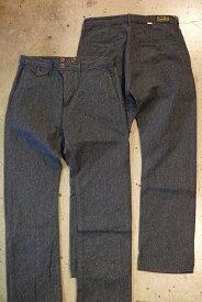 送料無料!ORGUEIL(オルゲイユ)【OR-1050B Nep Twill Trousers】ネップツイルトラウザーズ撚り杢ツイル生地 柄入りナット釦 各部パイピング仕立てMADE IN JAPAN