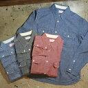 送料無料!TROPHY CLOTHING(トロフィークロージング) 【TR-SH02】【L/S Harvest Shirts】ハーベストシャツ長袖ワークシ…