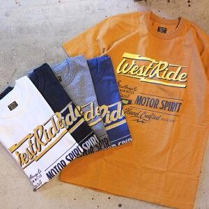 WEST RIDE(ウエストライド)Tee Shirts【20-01】プリントTシャツ へヴィーウェイトTシャツアメカジ モーターサイクル14番単糸ボディ・トリプルバインダーネック・コットン100%