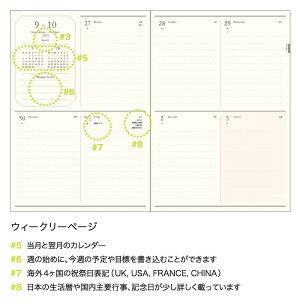【ご予約8月中旬入荷】MATOKAマトカ2022年版(2021年10月始まり)手帳/ダイアリー|B6サイズウィークリー・ブロック式(週間ブロック・日記帳)『ワンポイントメジェド/POINTMEDJED』