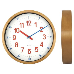 BAUHAUSバウハウスウォールクロック|壁掛け時計「REROSSQUADRATIC」Red