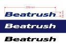オリジナルカッティングステッカーBeatrush/1枚切り文字タイプ200×18mm【レターパックライト対応】*LAILEレイル