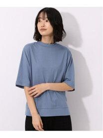 【SALE/31%OFF】(W)SUPIMAモックネックTシャツ LAKOLE ラコレ カットソー Tシャツ ブルー ホワイト ブラック ベージュ【RBA_E】[Rakuten Fashion]