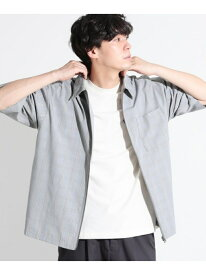 【SALE/43%OFF】(M)TRZIPシャツ LAKOLE ラコレ シャツ/ブラウス 半袖シャツ グリーン グレー ブラウン【RBA_E】[Rakuten Fashion]