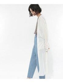 【SALE/48%OFF】(W)リネンタッチシアーロングCD LAKOLE ラコレ ニット カーディガン ホワイト ブラック ベージュ ブラウン【RBA_E】[Rakuten Fashion]